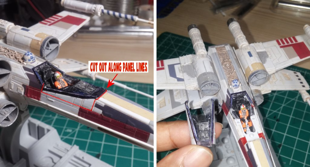 Cockpit modifications on the X-Wing