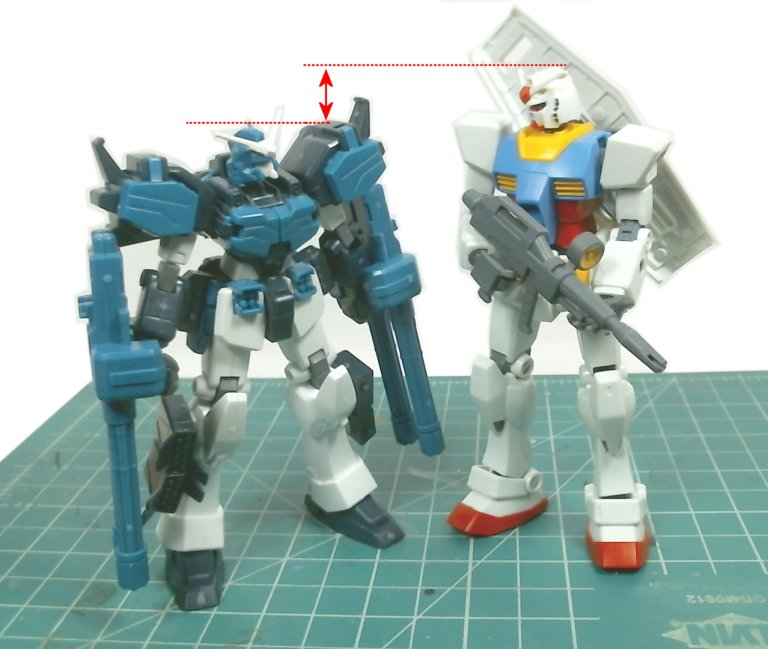 H Arms and RX-78-2 side by side