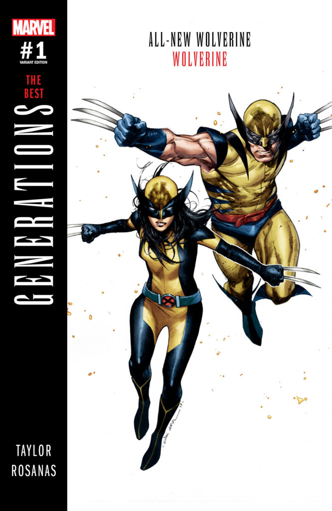 X-23 and James Howlett cover for Marvel Generations #1 issue